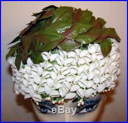 Vintage 1950s Lilies of the Valley Floral Fantasy Hat