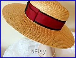 Vintage 1970s Gucci Straw Hat