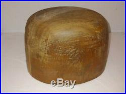 Vintage 20s/30s M. A. Cuming Abbey Industrial Wood Hat Form Millinery Head Block