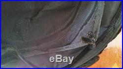 Vintage 40's wide brim black velvet hat with rhineston hooped trim