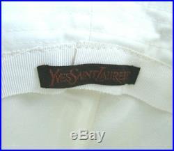 Vintage 70's Yves Saint Laurent Versatile White Gaberdine Sailor Hat