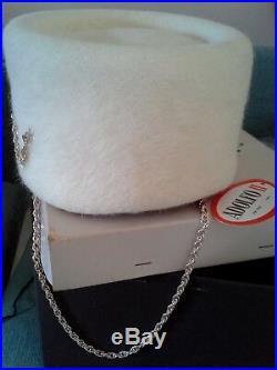 Vintage Adolfo II New York Paris Women's Pillbox-styled Hat / Vintage Box Rare