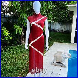 Vintage Alexander McQueen beaded gown 1990s 6