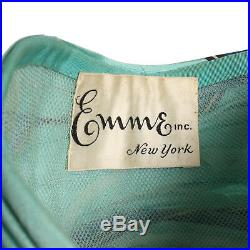 Vintage Aqua Blue Silk Dramatic Turban Avant Garde Hat 1960s does 1940s Style