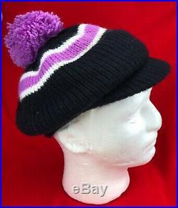 Vintage Arctic Cat Knit Hat Snowmobile Winter Hat Men's Women's Pom Artic
