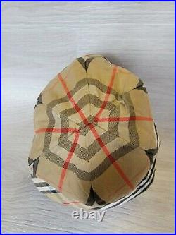 Vintage Auth Burberry Reversible Bucket Hat Cap Nova Check Sz M L Diam 23 inch