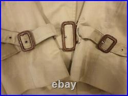 Vintage Auth Women's Burberry MAC NOVA Gabardine Trench Coat Beige UK14 16 & Hat