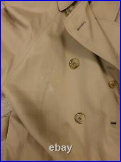 Vintage Auth Women's Burberry MAC NOVA Gabardine Trench Coat Beige UK14 & Hat