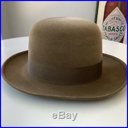 Vintage Borsalino Grand Prix 1900 Womens Fedora Hat w Colorful Hat Box