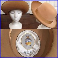 Vintage Borsalino Womens Hat (sz 21-21.5)