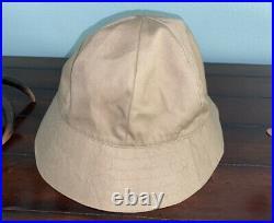 Vintage Burberry Classic Reversible Bucket Hat Cap Nova Check Plaid Tan
