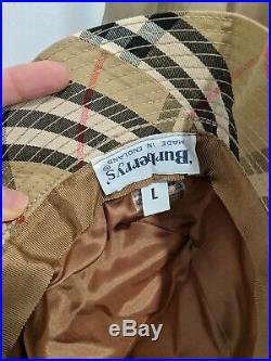 Vintage Burberry Classic Trench Coat Women's Large with Belt and Hat