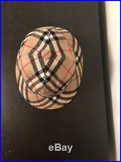 Vintage Burberrys Nova Check Bucket Hat Women's M (Small) Wool