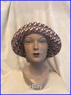 1fa1553365d Vintage CHRISTIAN DIOR Pink Red Monogram Bucket Hat