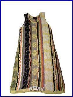 Vintage COOGI Australia Womens Multi Color Knit 3 Piece Sweater Hat Dress Outfit