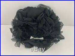Vintage Christian Dior Black Hat & Nordstrom Box