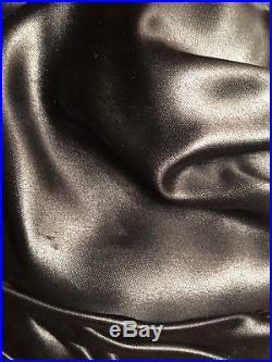 Vintage Christian Dior Chapeaux Black Satin Ribbon Turban Hat