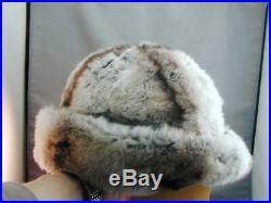 Vintage Christian Dior Chapeaux Paris New York Chinchilla Fur Hat