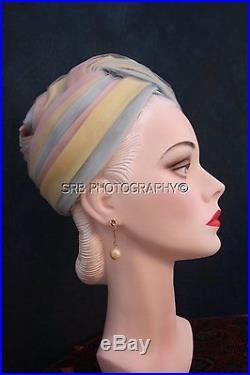 Vintage Christian Dior Chapeaux Paris Vintage 50s Pastel Colors Turban Hat