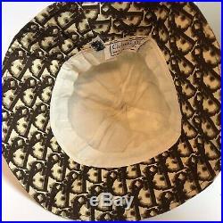 Vintage Christian Dior Monogram Trotter Bucket Hat