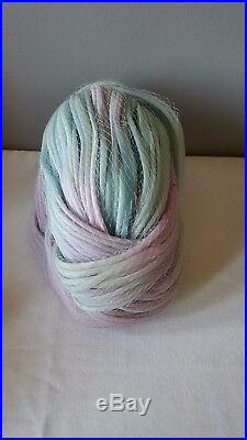 Vintage Christian Dior Paris Pastel Yarn Cloud Chapeaux Turban Hat Netting