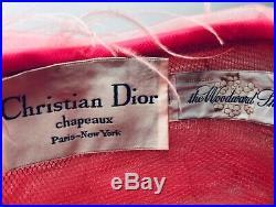 Vintage Christian Dior Pink Maribou Hat