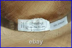 Vintage Diorling by Christian Dior straw hat with veil