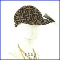 Vintage Fendi Zucca Monogram Rare Cap Hat NWT Unisex. NFV6503