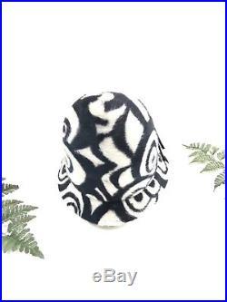 Vintage Frank Olive hat, 1960s op art print bucket hat mod sun hat designer hat