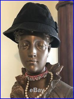 Vintage GUCCI Black Canvas Bucket Hat MEDIUM Excellent Condition Women AUTHENTIC