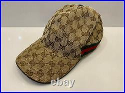 Vintage Gucci Baseball Cap GG Monogram Web Stripe 200035