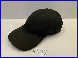 Vintage Gucci Baseball Cap Web Stripe Black GG Logo