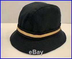 Vintage Gucci Bucket Hat Gg Gold Logo Web Stripe Sz L