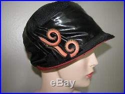 Vintage Hat 1920's Flapper Cloche Straw Fabulous Hat Decoration Trim Millinery