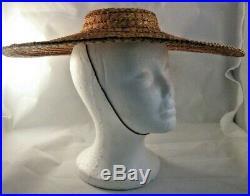 Vintage Hattie Carnegie Women's Hat Straw Rare