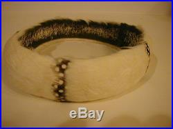 Vintage Hawaiian Feather Lei / Hat Band Handcrafted