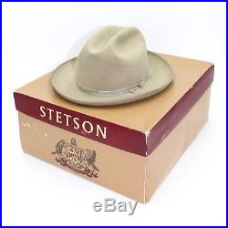 164359b847613 Vintage IOB Stetson Open Road Olive 3X (XXX) Hat 7 Fedora Men