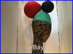 Vintage Issey Miyake Pleats Please Runway Hat Turquoise Red Dark Blue