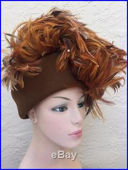 Vintage Jack MC Connell Glamour Feather Hat
