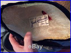 Vintage Jack McConnell Exotic Feather Hat Red Feather Label