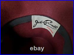 Vintage Jack Mcconnell Boutique Burgundy feather hat feather Derby Church