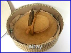 Vintage Ladies CARTWHEEL HAT with Original box Stylepark Hats Philadelphia