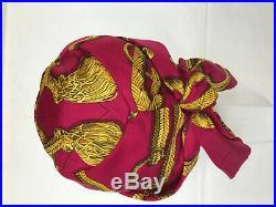 Vintage Ladies Hermès silk turban/scarf hat