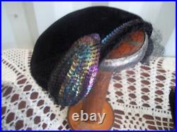 Vintage Ladies Womens MillineryFeathersBeaded Hats Lot Of 19 3 Veils
