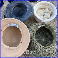 Vintage Lot of 11 Women's Hats 1940's 1950's 1960's Wool Straw Betmar Italy