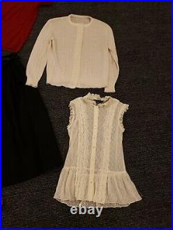 Vintage Lot of Women's Clothing Cable Knit Cardigan, Flapper Dress, Hat & More
