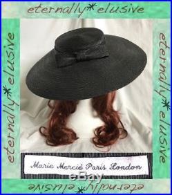 Vintage MARIE MERCIE Paris Platter Disc Special Occasion Hat Ascot Races Wedding