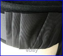 Vintage MATSUDA NICOLE Japan Felt Pillbox Hat 80s