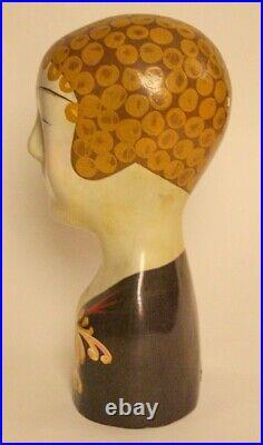 Vintage Millinery Mannequin Head Bust, Hat Display Atelier J. H. Engesser Zurich