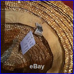 Vintage Mini Straw Hat 30s 40s Tilt Top